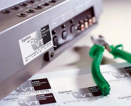 Металлизированные этикетки для технической информации