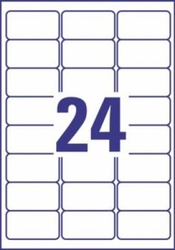 Всепогодные пленочные удаляемые этикетки Avery Zweckform [L4773REV-20] (63.5x33.9 мм, 480 шт, 20 листов)