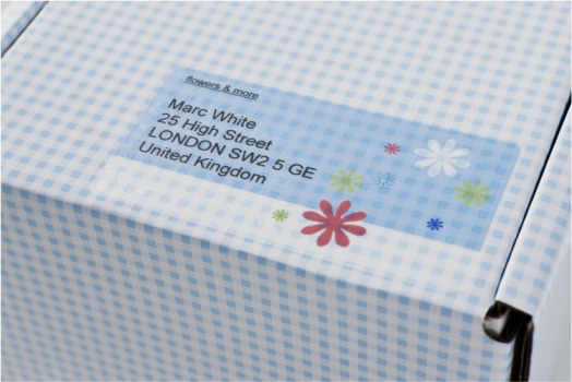 Прозрачные адресные этикетки Avery Zweckform [J4722-25] для струйных принтеров (96x50.8 мм, 250 шт, 25 листов)